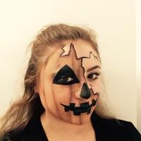 13 Days of Halloween Makeup- Broken Pumpkin