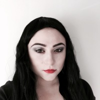 13 Days of Halloween Makeup-Morticia Addams