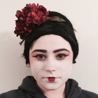 13 Days of Halloween Makeup- Geisha