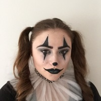13 Days of Halloween Makeup-Harlequin