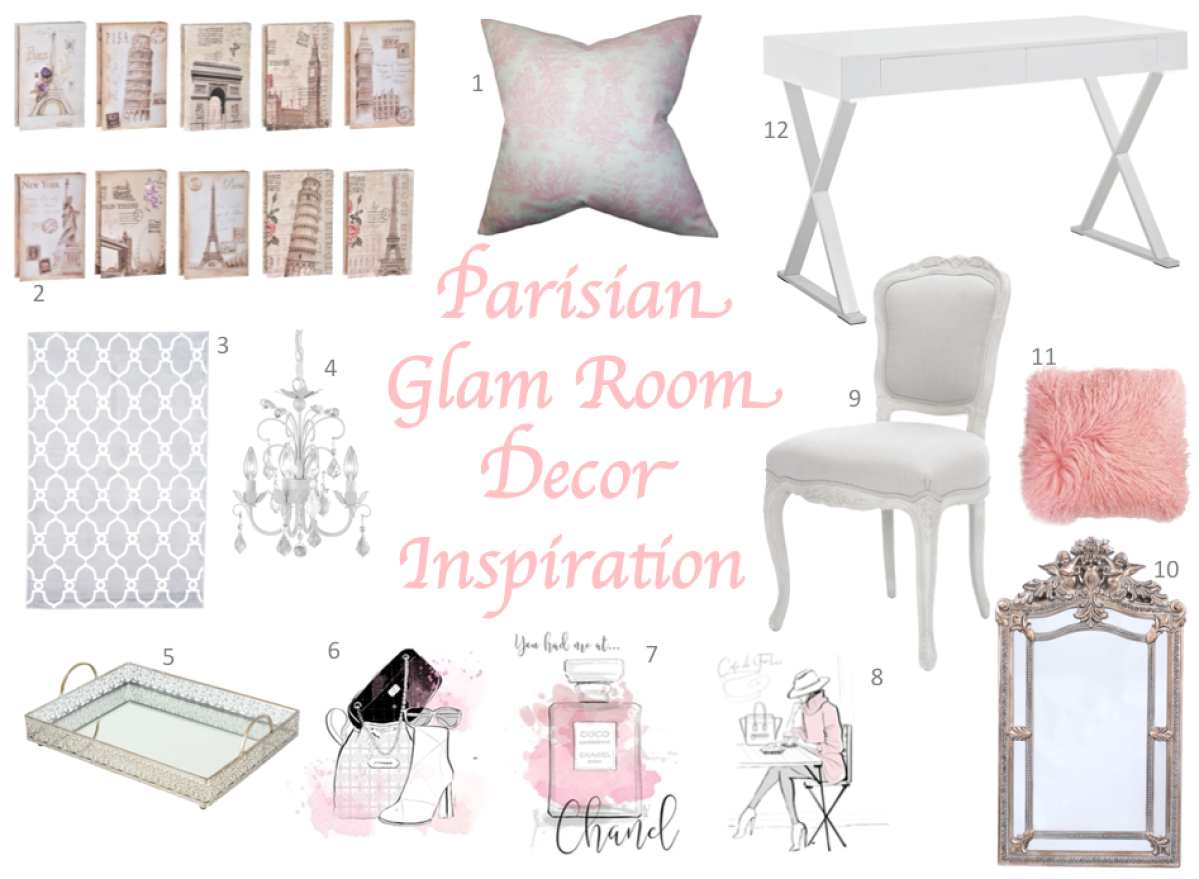 Parisian Glam Room Decor Inspiration