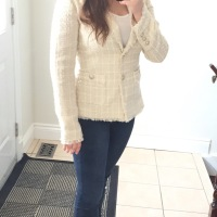OOTD: Cream Tweed Blazer