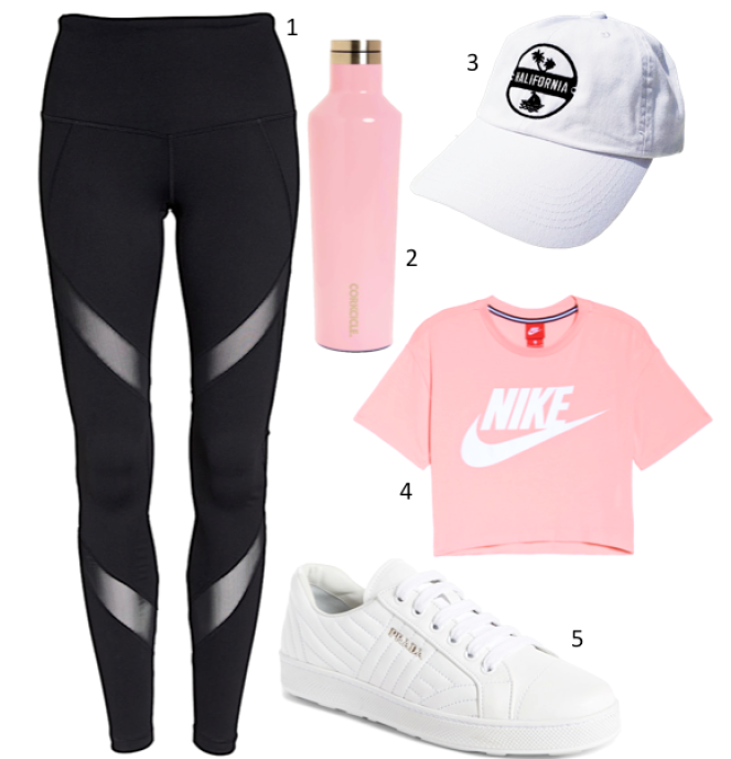 Inspiration Tuesday: Black, White & Pink Athletic