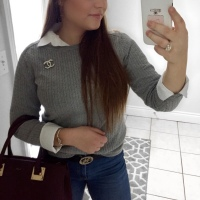 OOTD: Cable Knit + Button Down