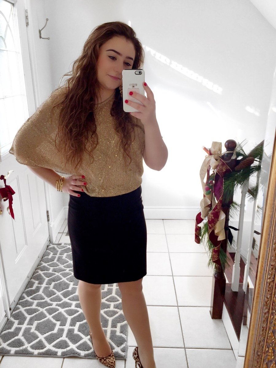 OOTD: Holiday Gold