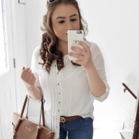 OOTD: Brown Leather Details