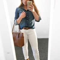 OOTD: Blue Denim Blouse